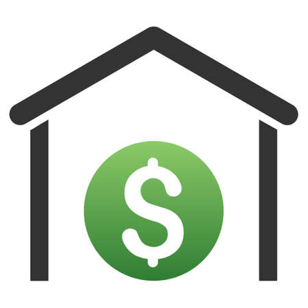 commercial real estate: Money Storage glyph toolbar icon for software design. Style is a gradient icon symbol on a white background.