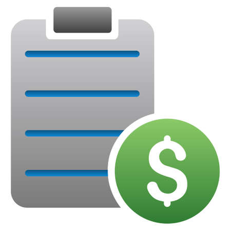 nomenclature: Price List glyph toolbar icon for software design. Style is a gradient icon symbol on a white background. Stock Photo