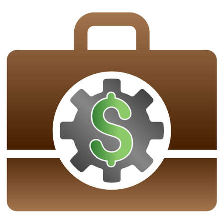 configure: Accounting Options vector toolbar icon for software design. Style is a gradient icon symbol on a white background.