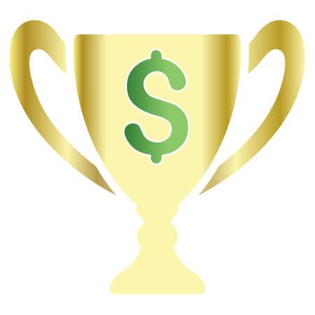 millonario: Millonario Copa icono de la barra de herramientas del vector para el diseño de software. El estilo es un símbolo gradiente icono sobre un fondo blanco.