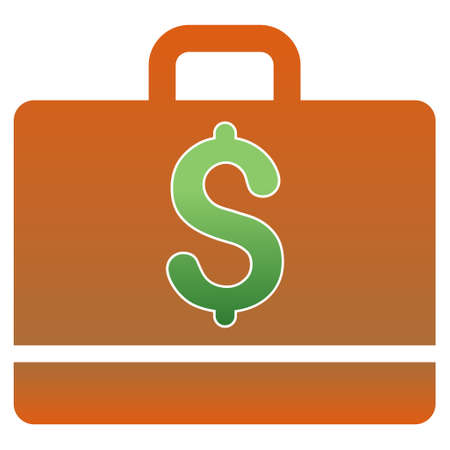 business case: Business Case glyph toolbar icon for software design. Style is a gradient icon symbol on a white background.