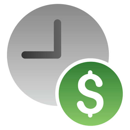 timed: Recurring Payments vector toolbar icon for software design. Style is a gradient icon symbol on a white background.