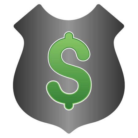 financial security: Financial Security glyph toolbar icon for software design. Style is a gradient icon symbol on a white background.