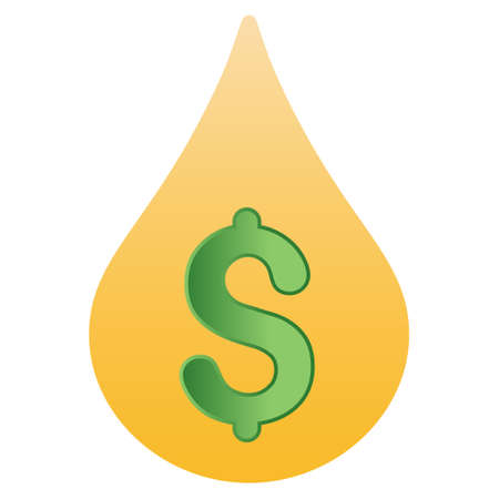 price drop: Fuel Drop Price glyph toolbar icon for software design. Style is a gradient icon symbol on a white background.