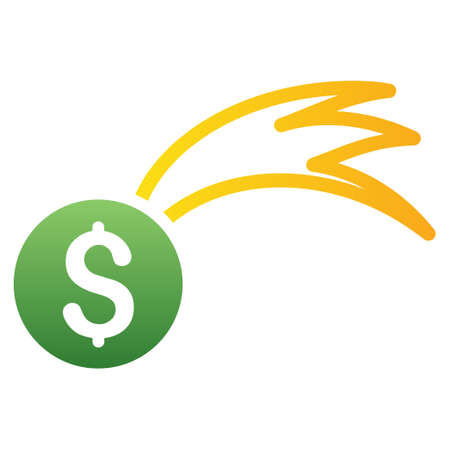 falling money: Luck Falling Money vector toolbar icon for software design. Style is a gradient icon symbol on a white background.
