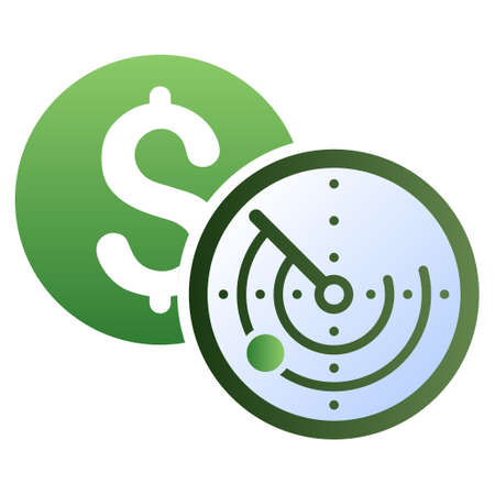 locator: Money Locator vector toolbar icon for software design. Style is a gradient icon symbol on a white background.