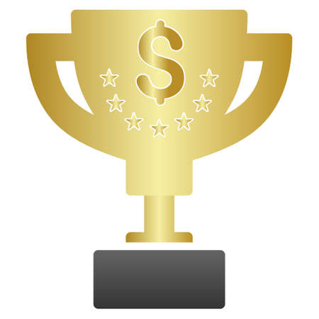 favorite number: Business Award Cup vector toolbar icon for software design. Style is a gradient icon symbol on a white background.