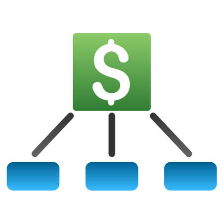 bank branch: Money Payment Hierarchy vector toolbar icon for software design. Style is a gradient icon symbol on a white background.