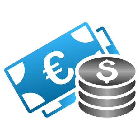 Euro Dollar Cash Glyph Toolbar Icon For Software Design Style