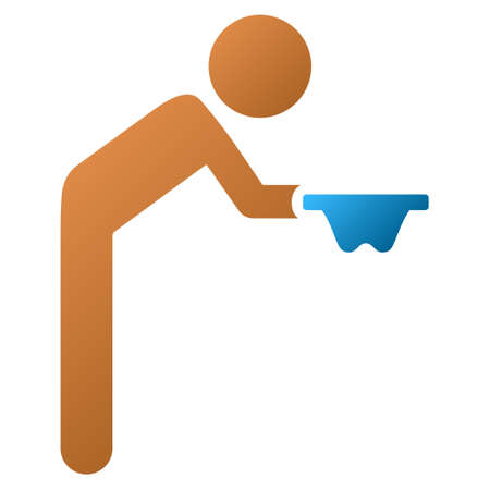 miserable: Child Beggar vector toolbar icon for software design. Style is a gradient icon symbol on a white background.