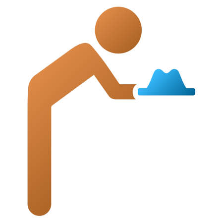 servant: Child Servant vector toolbar icon for software design. Style is a gradient icon symbol on a white background.