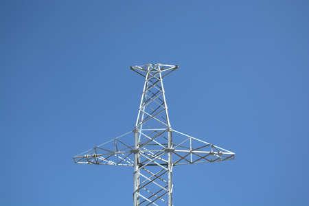 girder: High Voltage Girder in the Blue Sky.