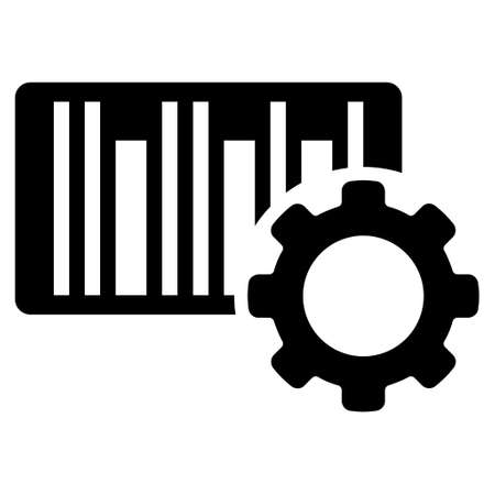 configuration: Bar Code Configuration vector icon. Style is flat icon symbol, black color, white background.