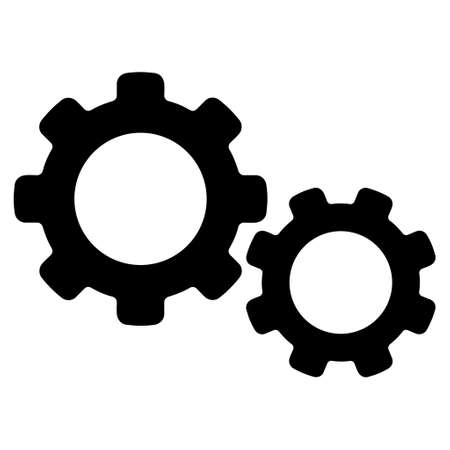 preferences: Preferences vector icon. Style is flat icon symbol, black color, white background.