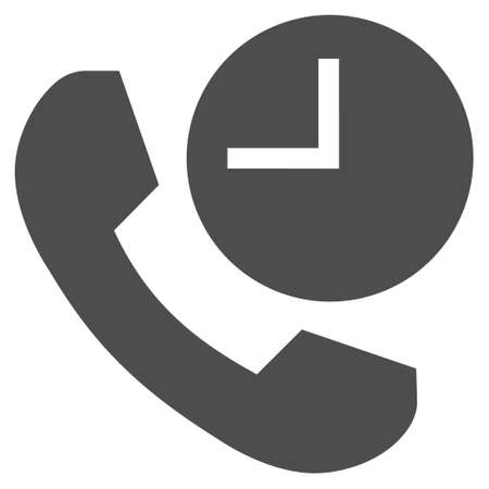 phone time: Phone Time vector icon. Style is flat icon symbol, gray color, white background.