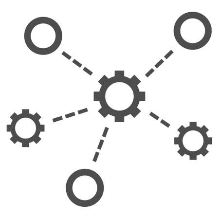 organization structure: Service Relations vector icon. Style is flat icon symbol, gray color, white background.