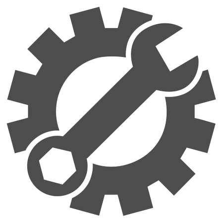 config: Repair Service vector icon. Style is flat icon symbol, gray color, white background.