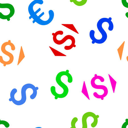 lower value: Regulate Price glyph seamless repeatable pattern. Style is flat regulate price and dollar symbols on a white background.