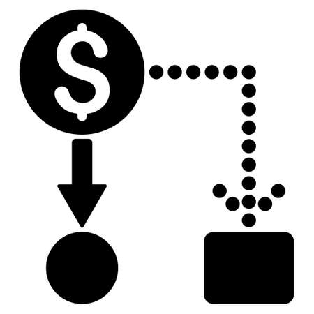 cashflow: Cashflow icon. Vector style is flat iconic symbol with rounded angles, black color, white background.