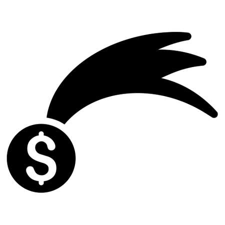 Lucky Money icon. Vector style is flat iconic symbol with rounded angles, black color, white background.