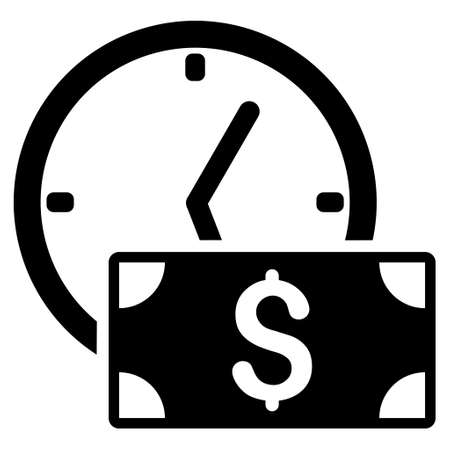 timed: Credit icon. Vector style is flat iconic symbol with rounded angles, black color, white background.