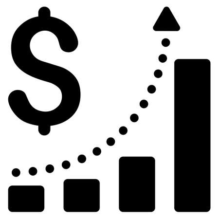 sales growth: Sales Growth icon. Vector style is flat iconic symbol with rounded angles, black color, white background.