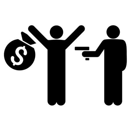 arrest: Thief Arrest icon. Vector style is flat iconic symbol with rounded angles, black color, white background.