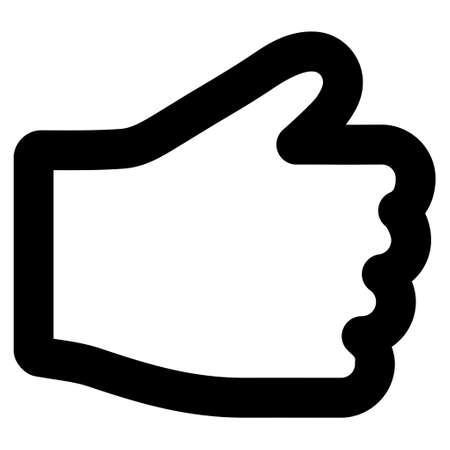 petition: Hand vector icon. Style is linear flat icon symbol, black color, white background. Illustration