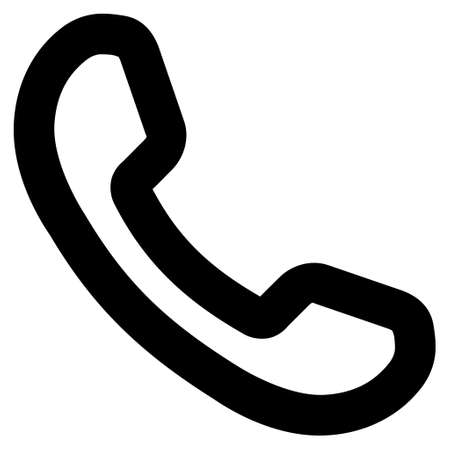 phone receiver: Phone Receiver vector icon. Style is outline flat icon symbol, black color, white background.