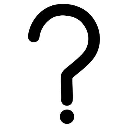 Question Sign vector icon. Style is contour flat icon symbol, black color, white background.