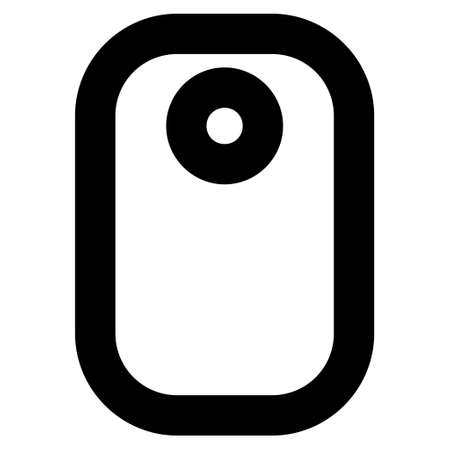 operand: Tag vector icon. Style is stroke flat icon symbol, black color, white background. Illustration