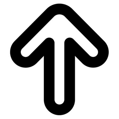 top pointer: Up Arrow vector icon. Style is linear flat icon symbol, black color, white background.