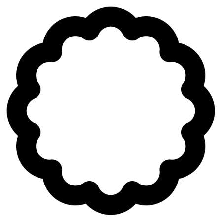 token: Token vector icon. Style is stroke flat icon symbol, black color, white background. Stock Photo