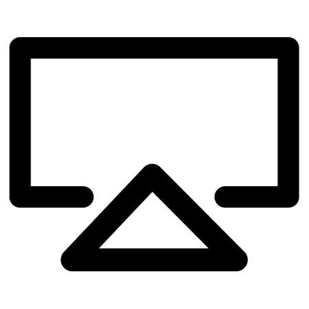 data entry: Data Entry vector icon. Style is outline flat icon symbol, black color, white background.