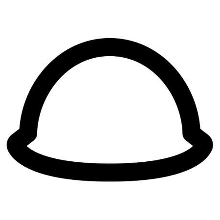 hardhat: Hardhat vector icon. Style is linear flat icon symbol, black color, white background.