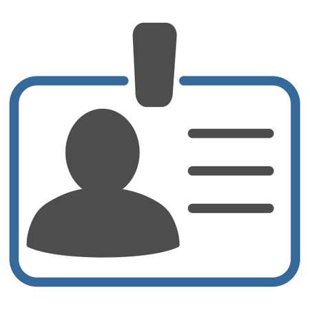 Persönliche Badge-Symbol. Vector Stil ist bicolor flach ikonische Symbol mit abgerundeten Ecken, Kobalt und grauen Farben, weißen Hintergrund. Standard-Bild - 61161292