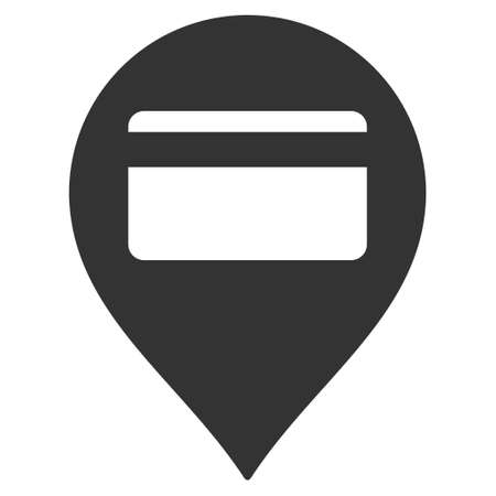 terminal: Credit Card Pointer icon. Vector style is flat iconic symbol with rounded angles, gray color, white background. Illustration