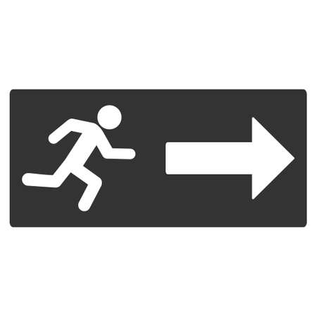 emergency exit icon: Emergency Exit icon. Vector style is flat iconic symbol with rounded angles, gray color, white background.