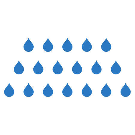 sanitize: Rain Drops icon. Vector style is flat iconic symbol with rounded angles, smooth blue color, white background.