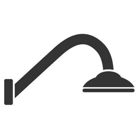 kitchen shower: Tap Mixer icon. Vector style is flat iconic symbol, gray color, white background.