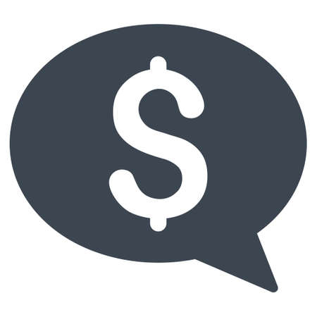 sms payment: Money Message icon. Vector style is flat iconic symbol with rounded angles, smooth blue color, white background.