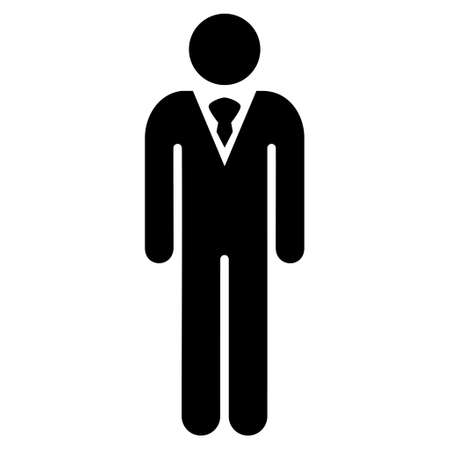 persona: Gentleman icon. Vector style is flat iconic symbol with rounded angles, black color, white background.