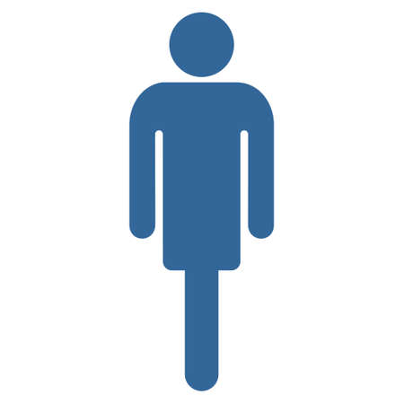 persona: Man icon. Vector style is flat iconic symbol with rounded angles, cobalt color, white background. Illustration