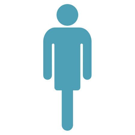 persona: Guy icon. Vector style is flat iconic symbol with rounded angles, cyan color, white background. Illustration
