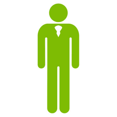 Gentleman icon. Vector style is flat iconic symbol with rounded angles, eco green color, white background.