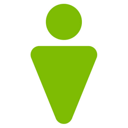 persona: Male icon. Vector style is flat iconic symbol with rounded angles, eco green color, white background.