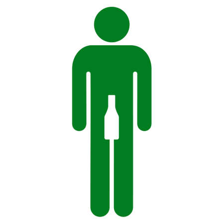 Boy icon. Vector style is flat iconic symbol with rounded angles, green color, white background.