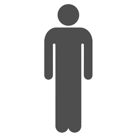 persona: Male icon. Vector style is flat iconic symbol with rounded angles, gray color, white background.