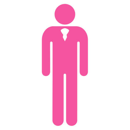 Boy icon. Vector style is flat iconic symbol with rounded angles, pink color, white background.