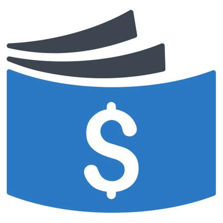 chequera: icono del talonario de cheques. estilo glifo es bicolor símbolo icónico plana con ángulos redondeados, colores azules suaves, fondo blanco. Foto de archivo